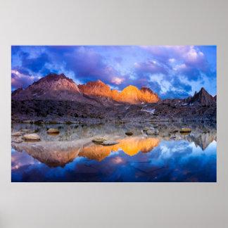 Poster Réflexion de montagne, la Californie