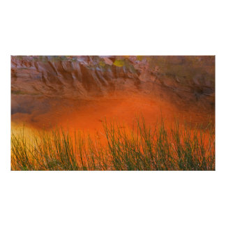 Poster Réflexion en canyon de gorge du canyon | de
