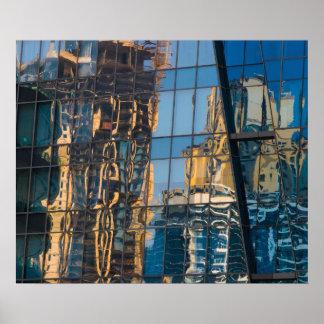 Poster Réflexions de ville dans l'affiche/copie de Dubaï
