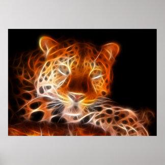 Poster Regard de intimidation de léopard
