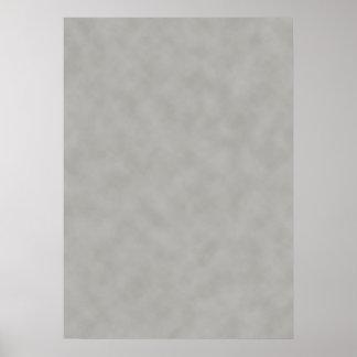 Poster Regard gris-foncé de parchemin