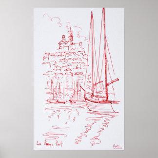 Poster Regardez port de Garde | de La de Notre-Dame De le
