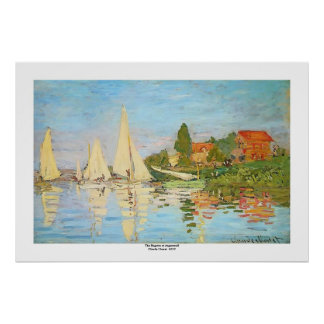 Poster Régate à Argenteuil par Claude Monet