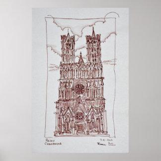 Poster Région de la cathédrale | Champagne de Reims,