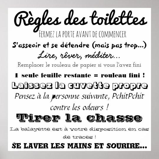 Poster Règles Des Toilettes