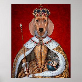 Poster Reine de teckel