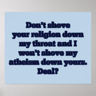 Poster Religion CONTRE l'athéisme, partie