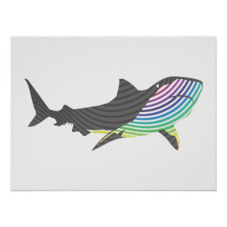 Poster Remous de requin de couleur