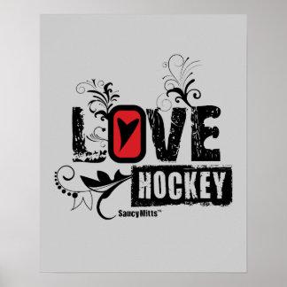 Poster Remous d'hockey d'amour des filles des femmes