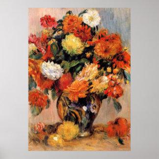 Poster Renoir - vase de fleurs, 1884