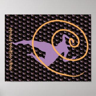 Poster Répandez l'affiche positive de vibraphone