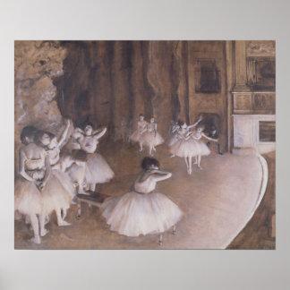 Poster Répétition de ballet d'Edgar Degas | sur l'étape,