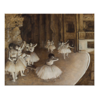 Poster Répétition de ballet sur l'étape | Edgar Degas