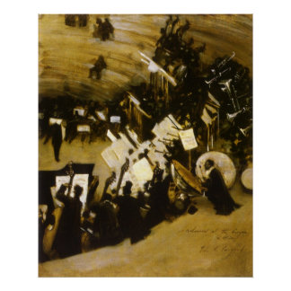 Poster Répétition de l'orchestre de Pasdeloup par Sargent