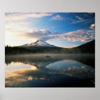 Poster Réserve forestière de capot de bâti du lac |