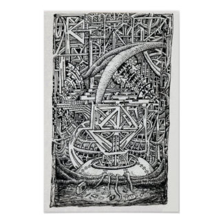 Poster Réservoir de tentacule par Brian Benson