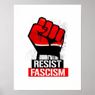 Poster Résistez au fascisme -