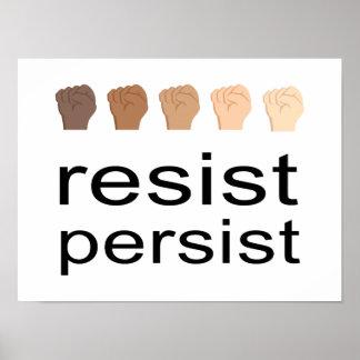 Poster Résistez persistent