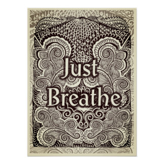 Poster Respirez juste - Quote´s positif