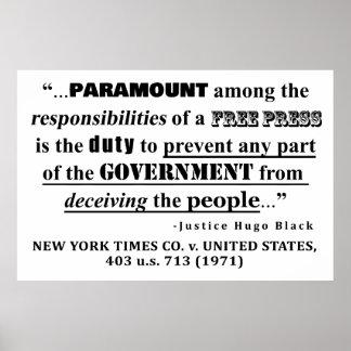 Poster Responsabilités d'une jurisprudence de PRESSE