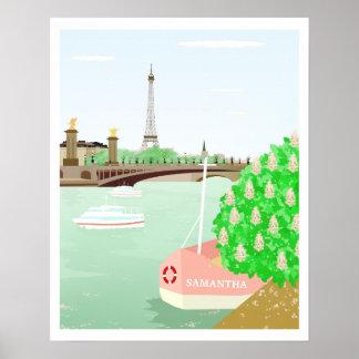 Poster Ressort nommé fait sur commande de tour d'Eifel en