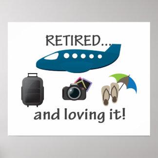 Poster Retiré et l'aimant vacances