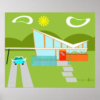 Poster Rétro affiche de Chambre de Palm Springs