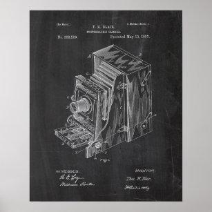 Poster Rétro brevet d'appareil-photo