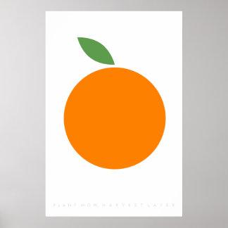 Poster Rétro citation orange des années 70 des années 60