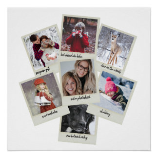 Poster Rétro collage de photo