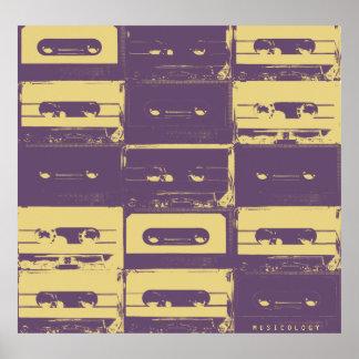 Poster Rétro couverture audio vintage de musique de style