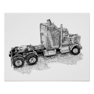 Poster Rétro installation de tracteur de jouet/unité