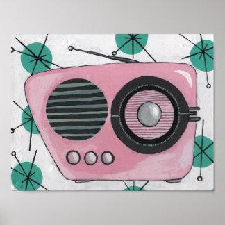 Poster Rétro radio