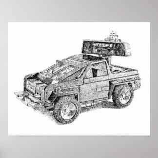 Poster Rétro véhicule du jouet 4X4/Assault