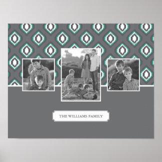 Poster Rétros photos et texte de famille tribales du