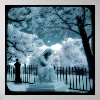 Poster Rêve bleu surréaliste