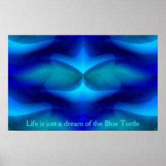 Poster Rêve de la tortue bleue