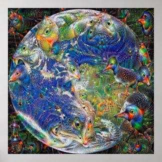 Poster Rêve profond de la terre de planète