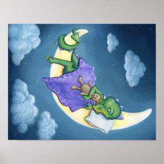 Poster Rêver de dragon de bébé