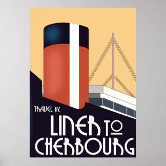 Poster Revêtement vers Cherbourg