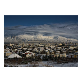 Poster Reykjavik dans Winterdress