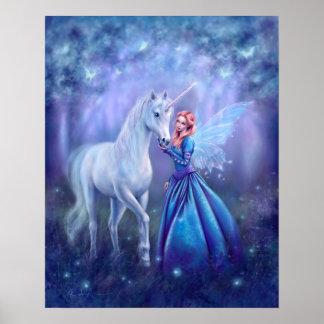 Poster Rhiannon - copie de licorne et d'affiche d'art de