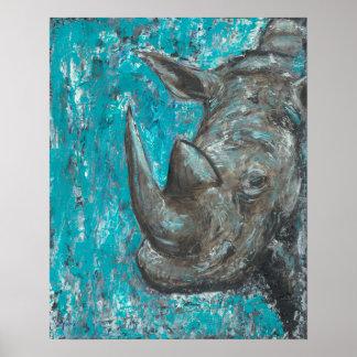 Poster Rhino380 - Art abstrait de Rhinosceros