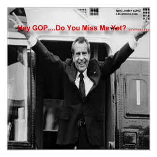 "Poster Richard Nixon ""Mlle Me Yet ?"" Affiche"