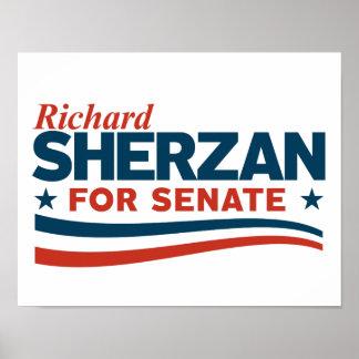 Poster Richard Sherzan pour le sénat