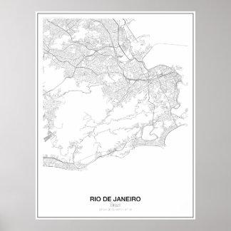 Poster Rio de Janeiro, Brésil, affiche minimaliste s.2 de