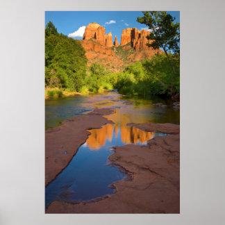 Poster Rivière au croisement rouge de roche, Arizona