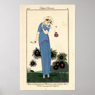 Poster Robe longue de Jardin de Nouveau d'art petite