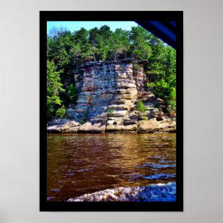 Poster Roches de la rivière Wisconsin