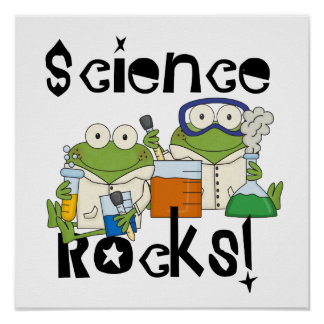 Poster Roches de la Science de grenouilles